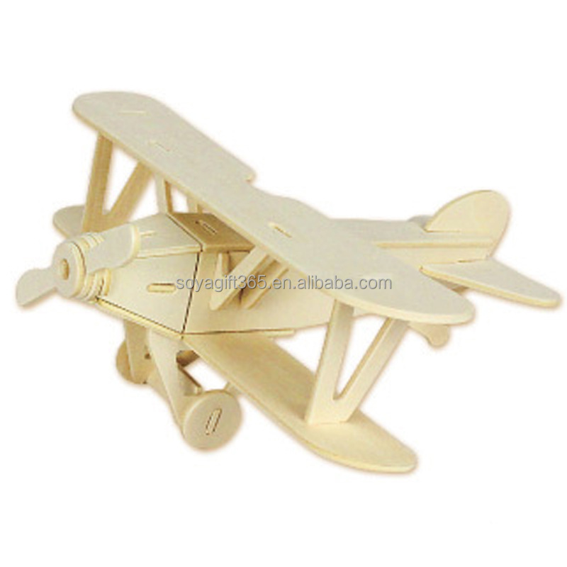 Educational Toys Creative Toy 3d Helicopter Wooden Stereo Jigsaw Puzzle