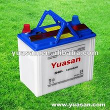 12V 40AH Yuasan Dry Charged Car Battery with JIS Standard N40 Dry Cell Batteriies