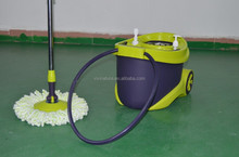 360 Degree Rotating Head Easy Magic Floor Mop and Spin Dry Bucket 2 Head Microfiber Twist Hurricane Spinning mop