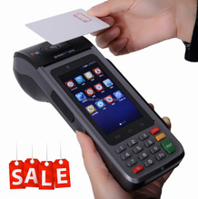 android pos terminal with 58mm thermal printer/pos printer sim card/credit card machine