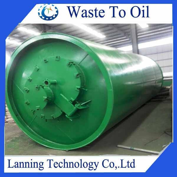 High capacity Continuous Waste Oil Refinery Machine to diesel with 85% oil yield