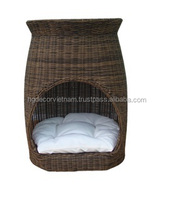 Poly rattan cat bed
