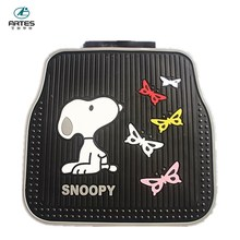 natural material eco-friendly cartoon logo design snoopy car mats