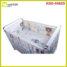 China supplier unique baby cribs baby bed/baby crib & changing table/baby bed clear plastic