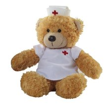 nurse animal teddy bear toy , nurse plush bear