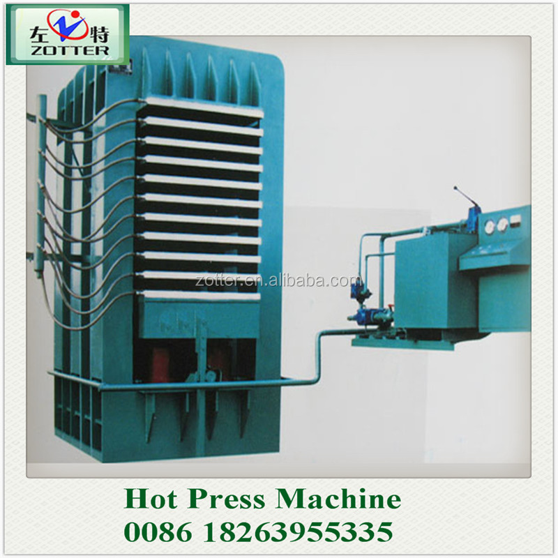 Drill platen hot press machine in plywood production