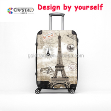 Factory customized suitcase spinner wheels high end vintage style trolley luggage 20 24 28 inch ABS+PC PP suitcase