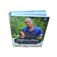 Cook Book Printing On Custom Design With High Quality Cardboard And Gloss Art Paper For Cook Book Print