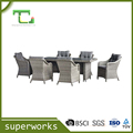 High Quality Outdoor Garden Rattan Sofa dining Set