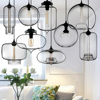 modern hand blown glass pendant lamp Edison pendant lamp