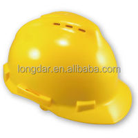 CE EN397 standard approved High Density industrial polypropylens vented shell Safety Helmet