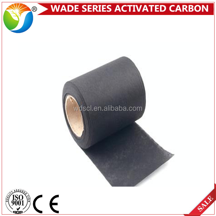 Good adsorption widely used in chemical actitvated carbon non woven fabrics for sale