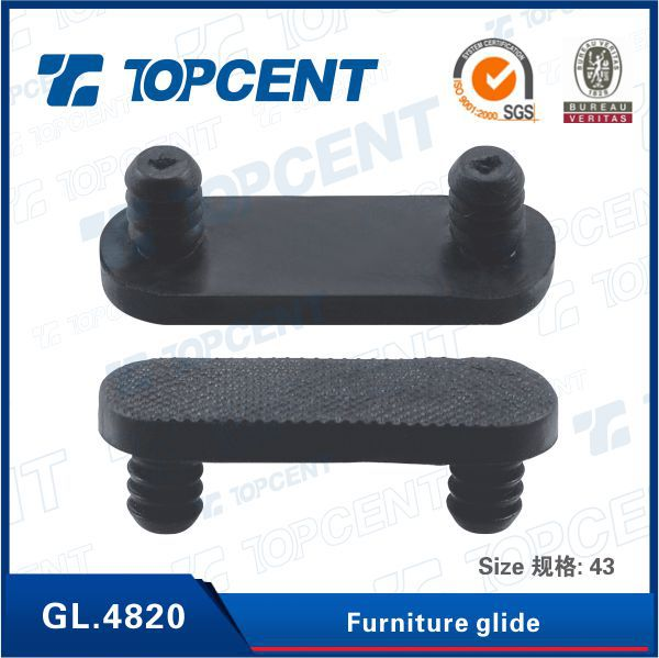 [GL.4820] White, black, brown plastic chair teflon furniture glides