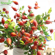 Wholesale price artificial pomegranate fruit branches fake berries for tree decor