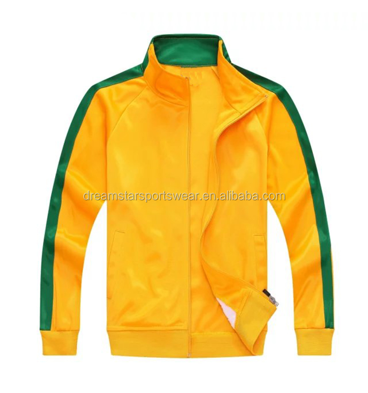 High Quality 2019 Yellow Tracksuit Customize Soccer Tracksuits