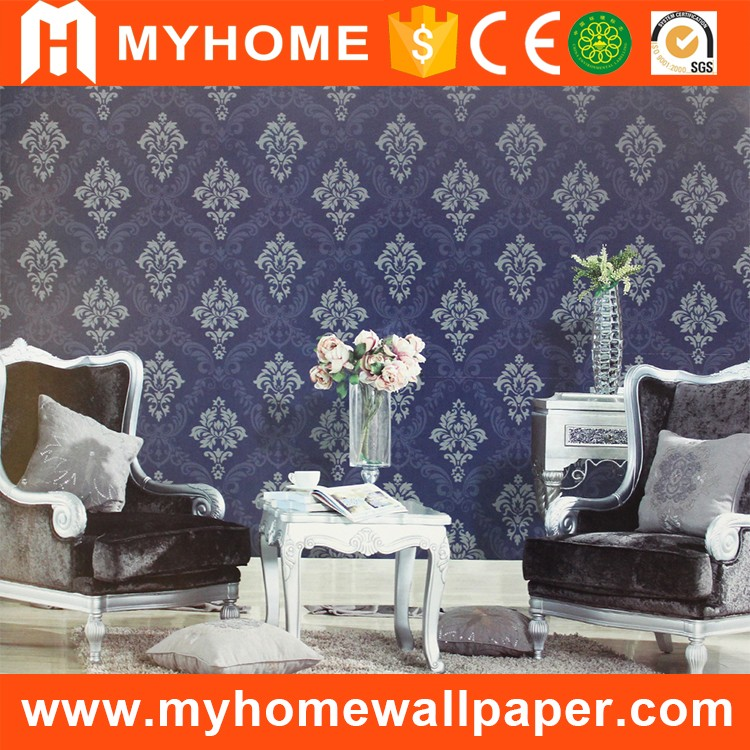 Quality MyHome latest design pvc embossed modern 3d wallpaper for office