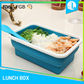 Food collapsible air tight lunch box FDA grade silicone food container