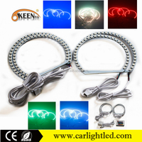 New Products 12v rgb with remote car led light angel eye colors led ccfl halo rings color changing headlight angel eyes kit