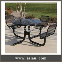 Arlau European Style Dubai Arabian Furniture,Cast Aluminum Dining Set,Garden Furniture And Outdoor Chair And Table