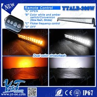 Y&T IP67 traffic safety equipment/dot approved led light bar/amber led warning lights bar with wireless remote control