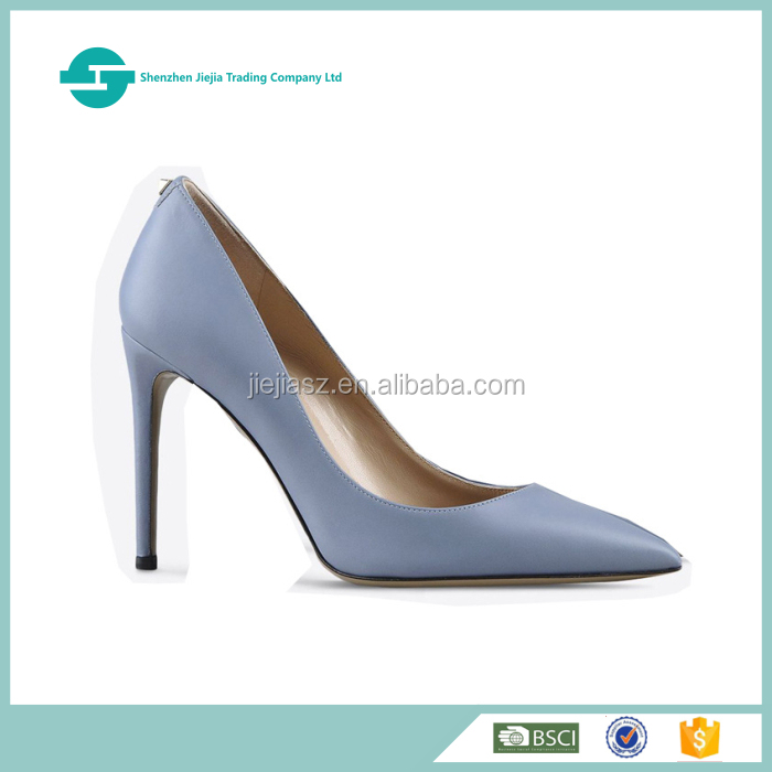 2017 new design pointed toe high heel European lady shoes