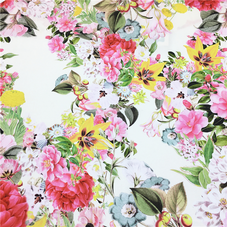 Newest design digital printing brushed polyester spandex fabric satin