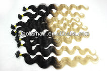 Alibaba cheap crazy two tone colored real virgin hair extensions wholesale factory price