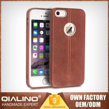 QIALINO Extra Slim Nice Quality Color Change Back Cover For Iphone 5 Genuine Leather Custom Fit