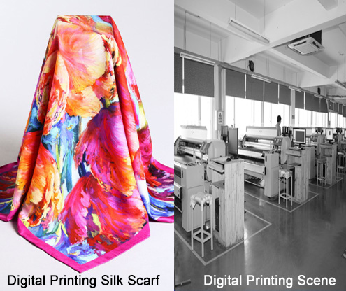 Digital Print Lady Silk Scarf Hijab