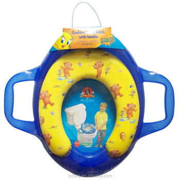 2016 hot selling colourfull base pvc printing baby/kids/child toilet seat