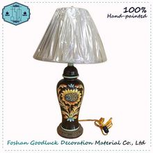 Hand Painted Ceramic Bedside Hotel Usa Table Lamp Manufacturers