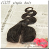 wholesale 100% Human vrigin raw hair Brazilian hair extension three-partting lace closure 5x5 body weave