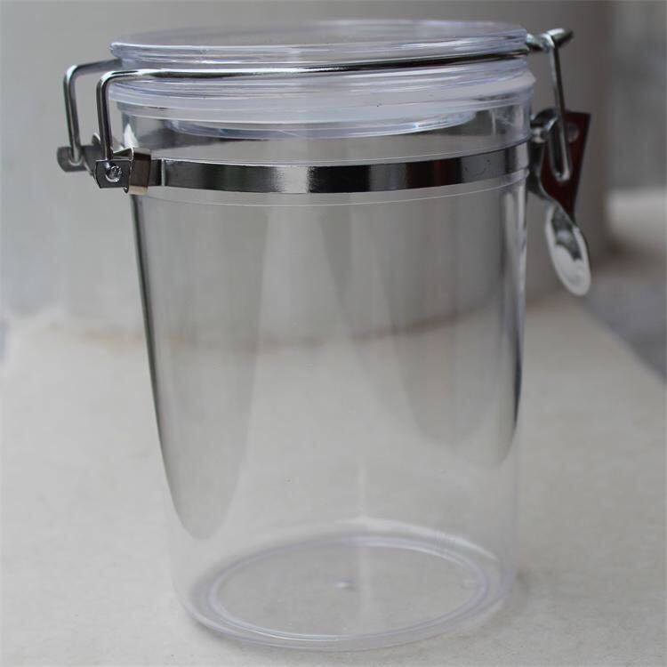 HOT Hot sale Round Airtight Clip Top Nuts Food Plastic Storage Jar with cheap price