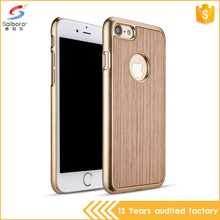 New products plating frame wooden cellphone cases 2017 for iphone 6 7 plus