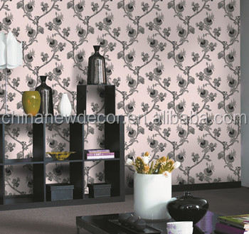 Korean Style Flower deep embossed vinyl wallpaper