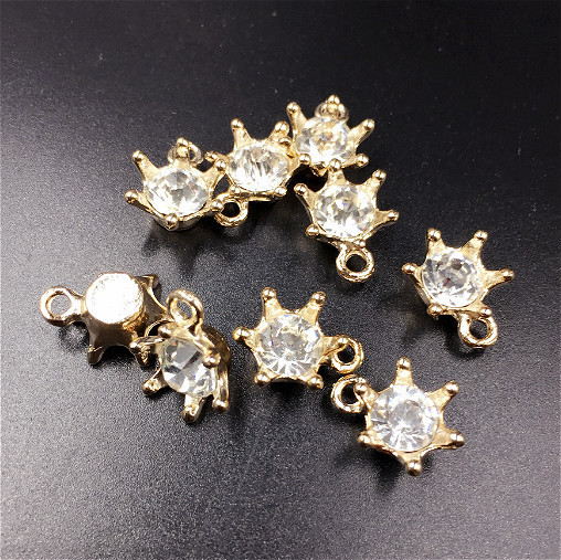 DIY Wholesale gold shiny rhinestone Pendant <strong>Charm</strong> 77