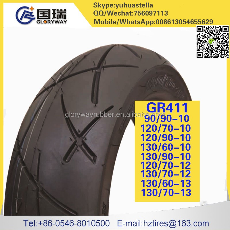 130/60-13 China manufacturer tire of motorcycle with gloryway brand