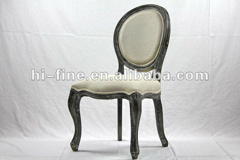 Estilo franc s louis xv silla con tejido de lino sillas de - Sillas antiguas baratas ...