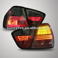 For BMW E90 3 Series 320i 323i 325 330 335 LED Tail Lamp 07-09 All Black V1