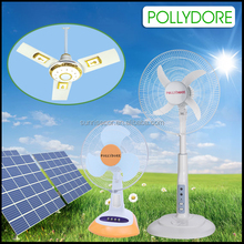 Solar fan work with battery, solar system or electricity