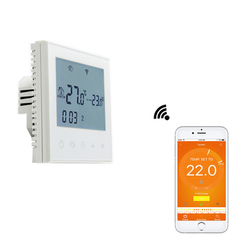 Touch screen WiFi thermostat with APP control,touch screen electric heating thermostat