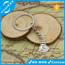 Keychain 21*15mm southern bell lady dancer Pendants DIY Men Jewelry Car Key Chain 30mm Ring Holder Souvenir For Gift
