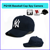 Remote Control Special Features and CMOS Sensor hidden cctv camera, Baseball Cap Camera