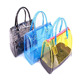 Womens Fashion Handbag Clear Purse Clutch Plastic Beach PVC Tote Bag