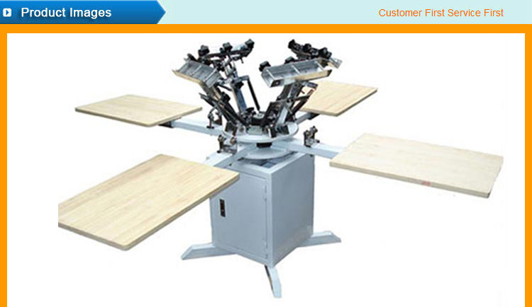 Cheap 4 color 4 station t-shirt screen printing machine