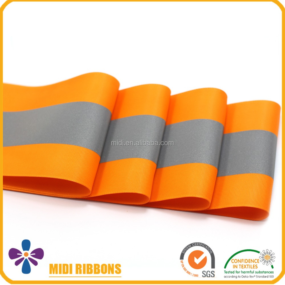 Fluo Orange Reflective Sewing Tape,High Visibility Safety Tape
