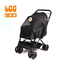 Chinese wholesale foldable pet stroller stainless steel dog trolley