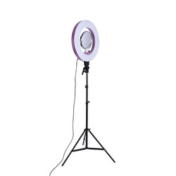 "LED 18"" Ring Flash Light CY 18 Dimmable SMD LED Light Kit 5500K Photography Photo Studio Light with stand"
