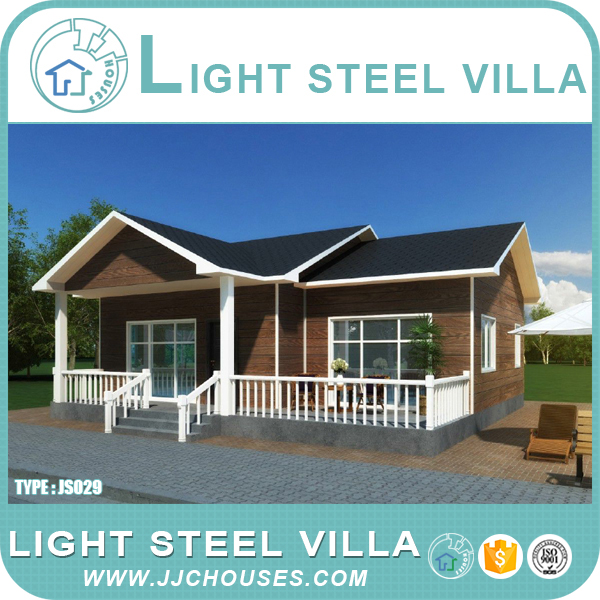 Aluminum insulating modern villa, beautiful garden, wooden garden room.