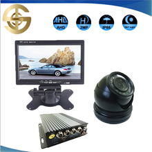 4 Channel AHD 720P HDD Mobile DVR Camera System Car Black Box Kit